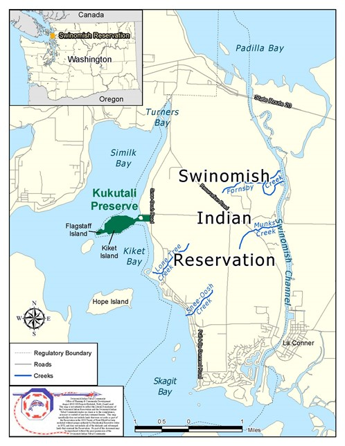 map of Swinomish Reservation and the Kukutali Reserve
